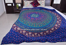 Indian Cotton Bed Sheet Queen Size Tapestry  Bedding Set Mandala Throw Hippie