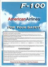 Safety Card - American - F100 - 1997   (S3674)
