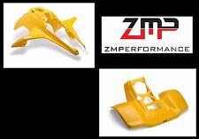 NEW SUZUKI LT250R PLASTIC YELLOW FRONT AND REAR FENDER SET PLASTICS LT 250R