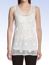 Chloé Women's CROCHET LACE TANK Top - Milk White - Size 38 FR / Medium