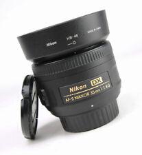 Nikon AF-S 35mm F1.8 G DX Autofocus Nikkor Lens + Front & Rear Lens Cap + Hood