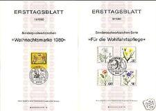 Berlin 1980: Wohlfahrtmarken und Weihnachten! Ersttagsblätter der Nr. 629-633!