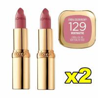 2x LOreal Colour Riche Satin Lipstick - 129 Montmartre FREE POST