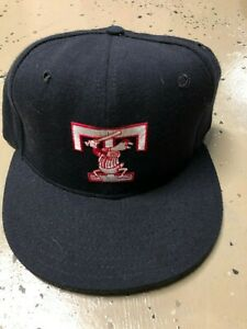 Vintage 80s MiLB Toledo Mudhens New Era Pro Model Fitted Hat 7 1/8 Made in USA