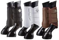 LeMieux ProSport MESH BRUSHING BOOTS Lightweight Schooling Black/White/Brown