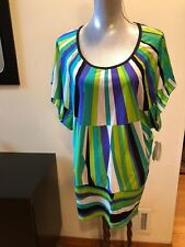 NEW TRINA TURK MULTI COLOR BEACH SWIM SPA COLLECTION ONE PIECE SIZE M COVER UP