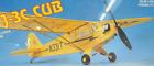"""PIPER J-3 CUB"", Still Shrink Wrapped, Free Flight Kit, W/S 28"", Rubber/CO2"