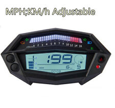 7Colors LCD Motorcycle Digital Tachometer Speedometer Volt Gear Indicator GUAGE
