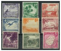 Nauru 1954 Pictorial Set of 9 Stamps To 5/- SG48/56 Fine Used 10-14