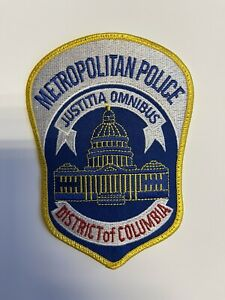 DC Police Metropolitan Police Department Patch District Of Columbia