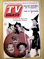 TV Guide 1952 Lucille Ball Halloween Pinup Witch Pre National TV Digest VG+ COA