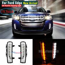 LH & RH LED SUV Fog Lamp Light DRL For Ford Edge 2011 2012 2013 2014 Turn Signal