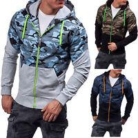 Men Zip Hoodie Hooded Sweatshirt Coat Jacket Outwear Jumper Winter Sweater M-3XL