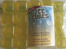 Reusable Ice Cubes 20 Ct. Yellow/Green Tint Great for Drinks, Parties,Bbq's