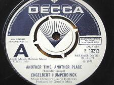 "ENGELBERT HUMPERDINCK - ANOTHER TIME, ANOTHER PLACE   7"" VINYL DEMO"