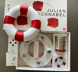 ILLY Collection Julian Schnabel Espresso Cups & Saucers 2005 Limited Ed. Italy