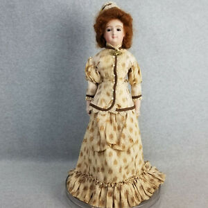 """20"""" artist antique reproduction Leon Casimir French Fashion Smiling Bru Doll"""