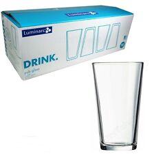 Luminarc Pub Beer Glasses 16 Oz Solid Beverage Drinking Mug Glassware Set of 10
