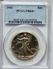 1941 WALKING LIBERTY HALF PR64+ PCGS