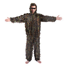 3D Camouflage Leaf Clothing Hunting Camo Yowie Sniper Archery Ghillie Suit L/XL