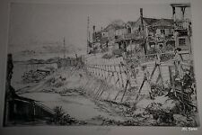 BACKYARDS OF TELEGRAPH HILL ETCHING BY JOHN W. WINKLER, MASTER ETCHER