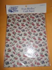 New LONGABERGER Village Press FRUIT MEDLEY craft paper scrapbooking 12 pages