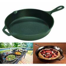 Deep Frying Pan Cast Iron Griddle 10 Inch Non Stick Skillet Pots and Pans Saute