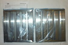(2) Zephyr ZOF-B082 Range Hood Baffle Filters STAINLESS STEEL Pack of 2 NEW!