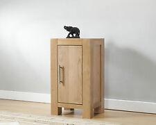 Solid Wood Chunky Oak Small Compact One Door Cupboard Cabinet   Brampton Range