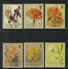 Guernsey 2005 Flower Paintings-Attractive Art Topical (860-65) Mnh