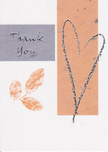 25 HEART THANK YOU NOTES Cards Blank Contemporary Personal Wedding Shower NEW