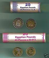 Egypt 2008 King Tut & Cleopatra Uncirculated Two Rolls 65 Coins