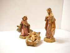 Nativity Fontanini figurines Holy Family Italy Mary Joseph Baby Jesus  4 Pc 1991