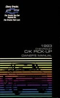 OEM Maintenance Owner's Manual Bound for Chevy Truck C/K Pickup 1993