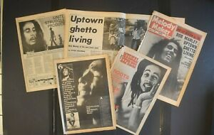 Bob Marley 3 pc. newspaper article and interview  1977-1979   reggae