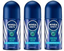 (76,33 €/L ) 3 x 50 ml Nivea HOMMES frais OCEAN 48h Vivement sans aluminium