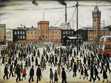 7890a628bc9 Going to Work by LS Lowry Giclee Canvas Print Repro