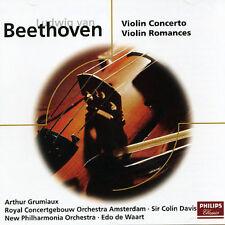 BEETHOVEN: VIOLIN CONCERTO, VIOLIN ROMANCES NOS. 1 & 2 NEW CD
