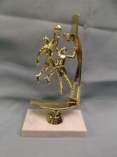 action male Basketball trophy award wide marble base