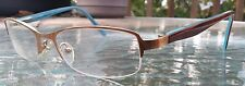 Authentic ECO Women's Designer Eyeglasses Frames Gold/Teal  ** Mint Condition **