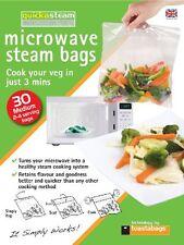 TOASTABAGS 30 MEDIUM MICROWAVE STEAM BAGS HEALTHY COOK 2-4 BAG SERVING QSM30PP