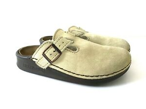 $155 BIRKENSTOCK Size 37 6 Oklahoma Shearling Lined Clog Shoes Slip On