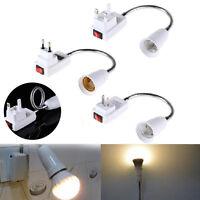 E27 Table Light Bulb Lamp Holder Socket + Switch Adapter Converter Flexible JJ