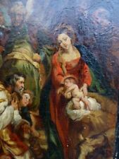 Peintures et émaux du XIXe siècle et avant sur bois école flamande