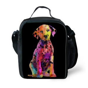 FOR U DESIGNS Dalmatian Kids Lunch Box Small Cooler Tote Lunch Bag Storage Purse