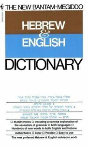 New Bantam-Megiddo Hebrew and English Dictionary Paperback Edward