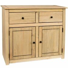 Panama Sideboard 2 Door 2 Drawer Solid Waxed Pine Rustic Cabient Furniture