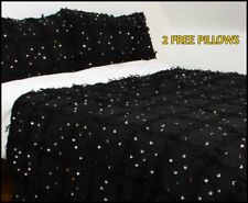 PROMO!! BLACK MOROCCAN WEDDING BLANKET + TWO PILLOWS FOR FREE A SPECIAL GIFT