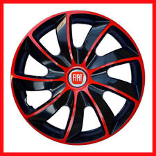 "4 x14"" Wheel trims Wheel covers for Fiat 500  Fiat Punto   black / red"