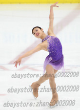 Popular Ice Skating Dress.Puple Competition Figure Skating Dress.with crystals